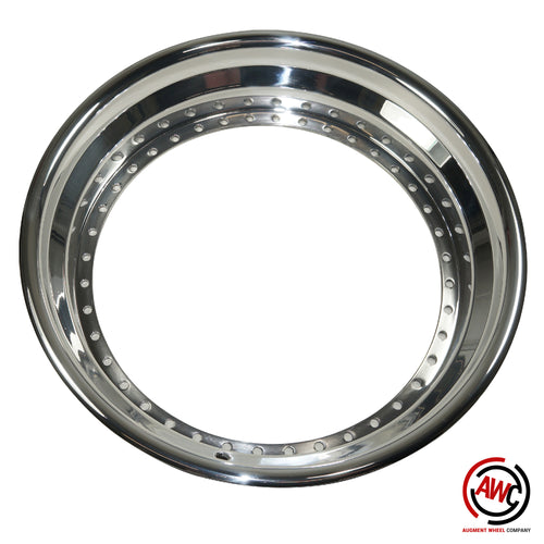 "18"" Step Outer Lip - American Standard 40 Hole - Polished - Rolled Flange"