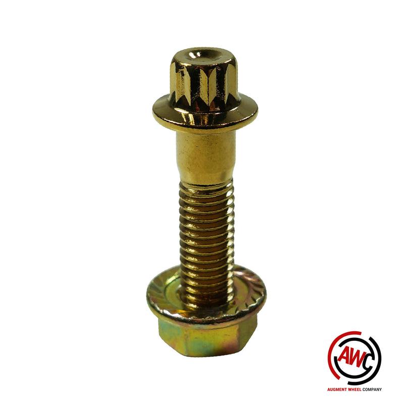 M8 - 12pt Assembly Nut and Bolt - Gold