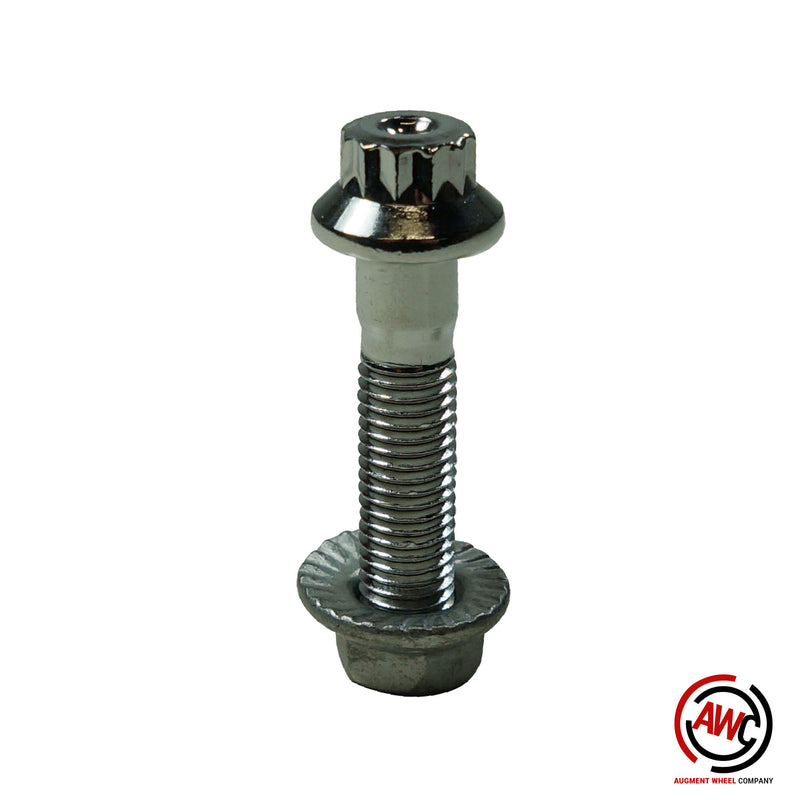 M7 - 12pt Assembly Nut and Bolt - Chrome