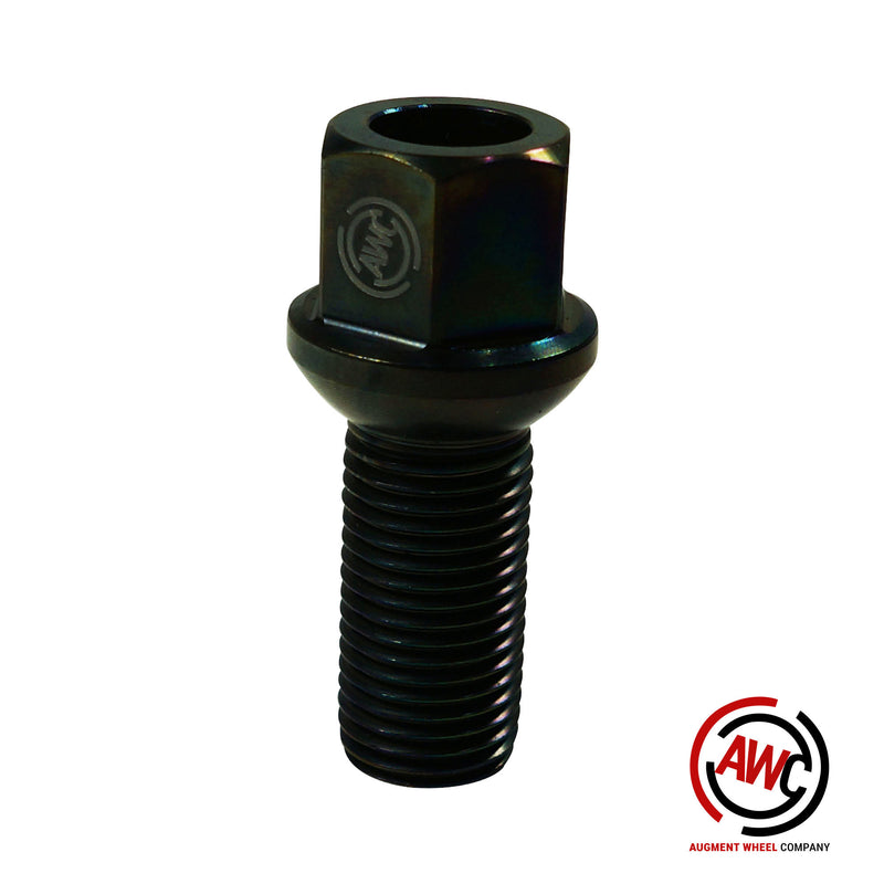Titanium Audi Lug Bolt - OE Length - Black