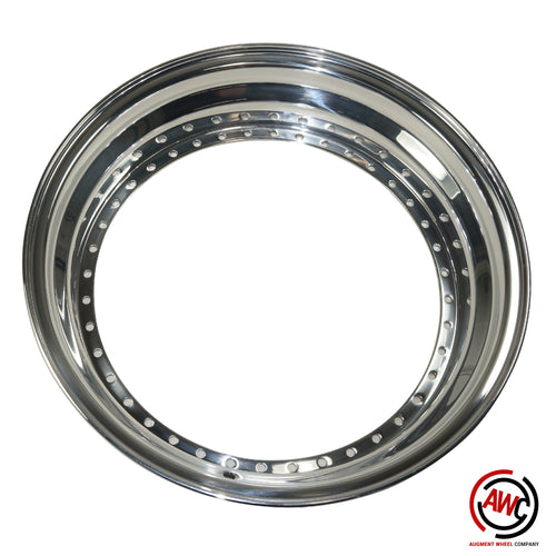 "18"" Step Outer Lip - American Standard 40 Hole - Polished - Straight Flange"