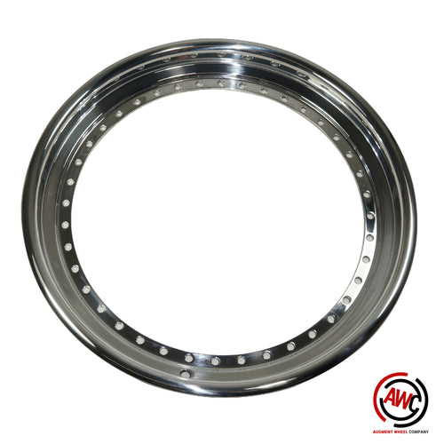 "19"" Step Outer Lip - SSR Vienna 40 Hole - Polished - Rolled Flange"