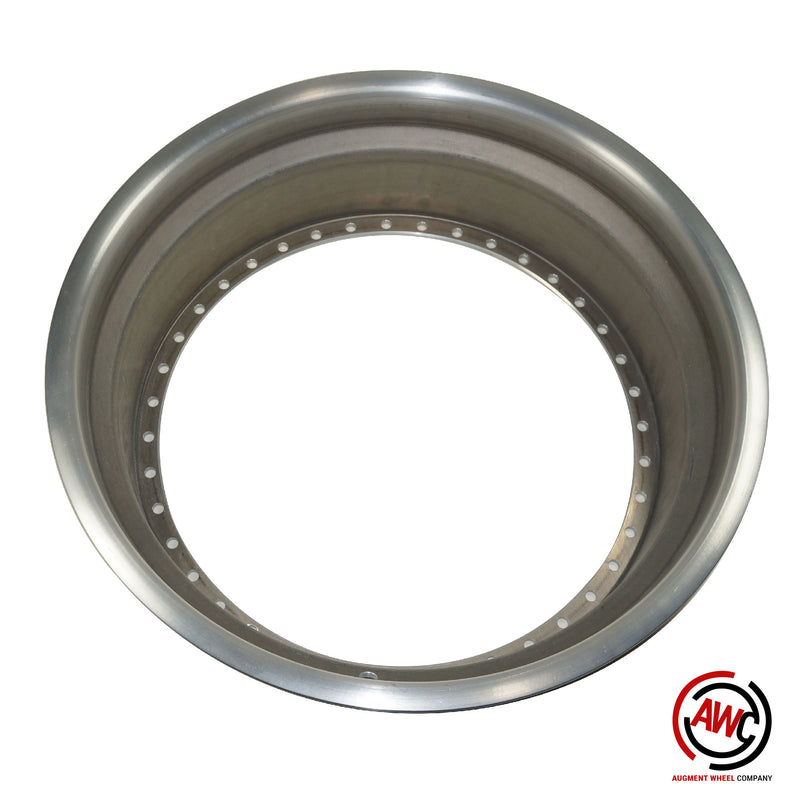 "18"" Step Outer Lip - American Standard 40 Hole - Raw - Rolled Flange"