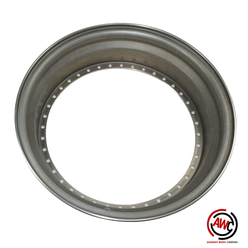 "19"" Step Outer Lip - American Standard 40 Hole - Raw - Straight Flange"