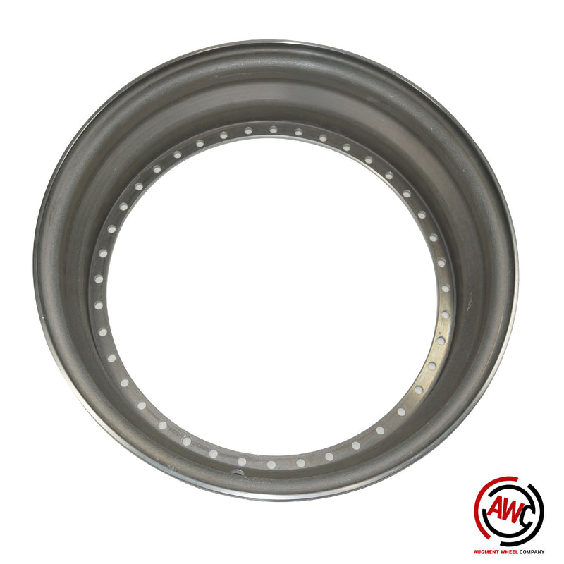 "17"" Step Outer Lip - American Standard 40 Hole - Raw - Straight Flange"