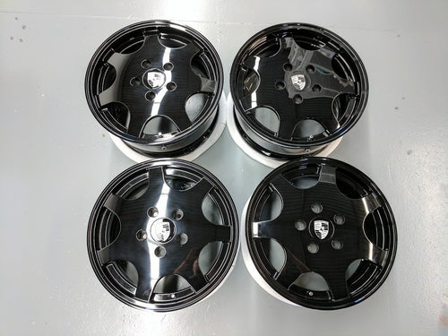 "Black 17"" D90 Set - Narrowbody 964, 944, 928 Fitment"