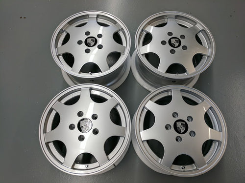 "Silver 17"" D90 Set - Narrowbody 964, 944, 928 Fitment"