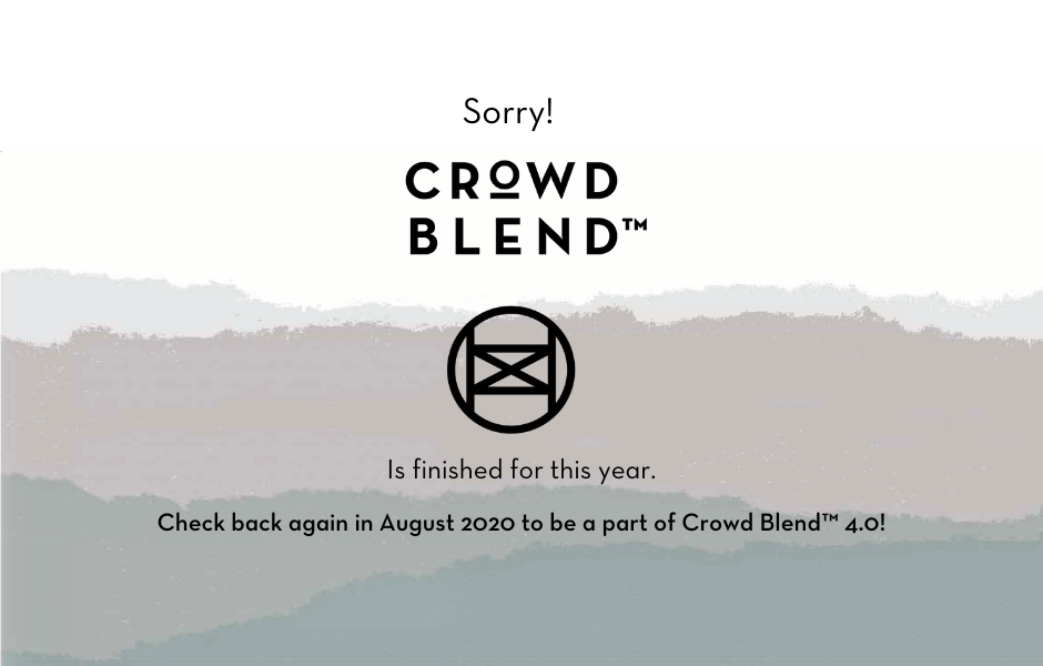 CROWD BLEND™ 2019 registration