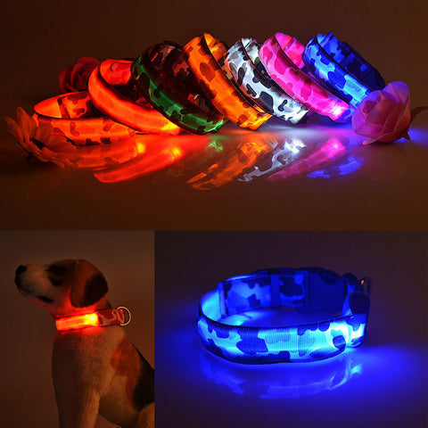 LED Adjustable Pet / Dog Safety Collar