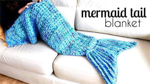 Mermaid Blanket – Super Soft Crochet Knitted Sleeping Bag Throw For Adults or Kids