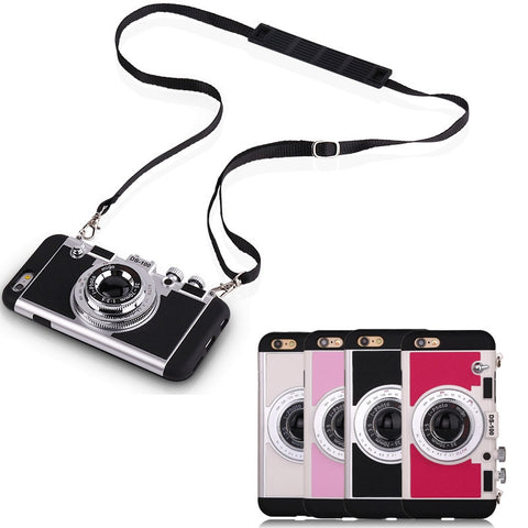 "iPhone ""Camera Case Cover"" With Neck Strap"