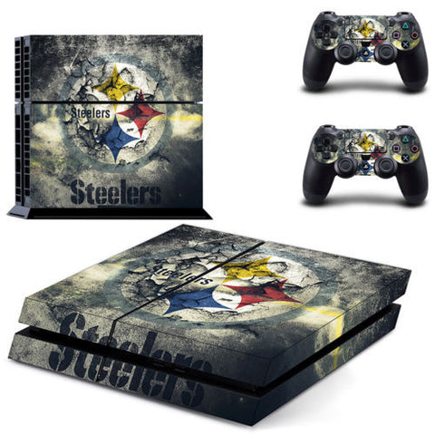 Pittsburgh Steelers Sticker Skin For Playstation 4 PS4 Console+Controllers