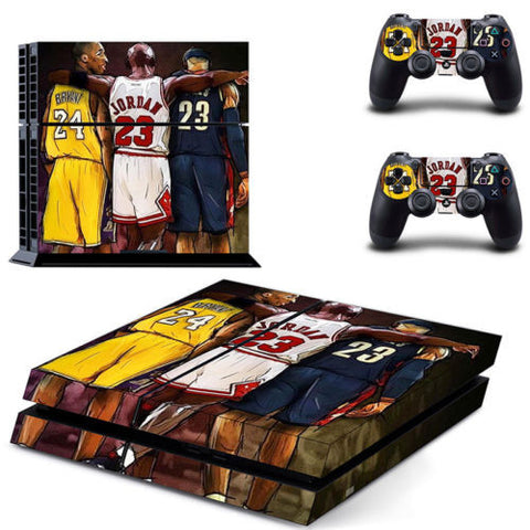 Basketball Lebron James, Kobe Bryant, and Michael Jordan Skin Sticker For Sony PS4 Console