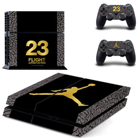 Number 23 Jordon vinyl decal skin sticker for ps4 playstation 4 Console