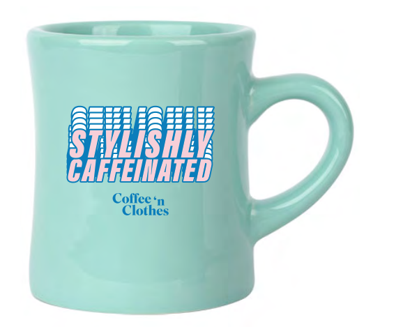Stylishly Caffeinated Mug (Mint)