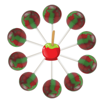10ct. Candy Apple Lollipop Bag