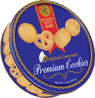 12oz Premium Cookie Tin