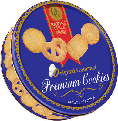 4oz Premium Cookie Tin