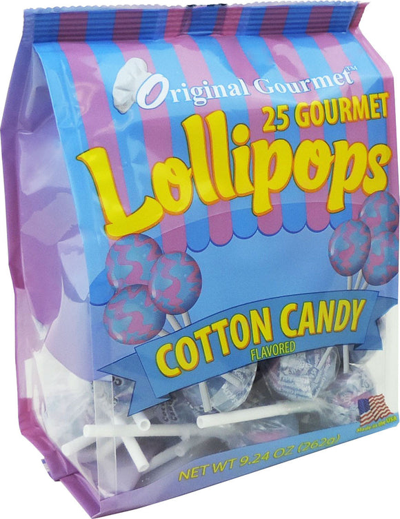 25ct. Cotton Candy Mini Lollipop Bag
