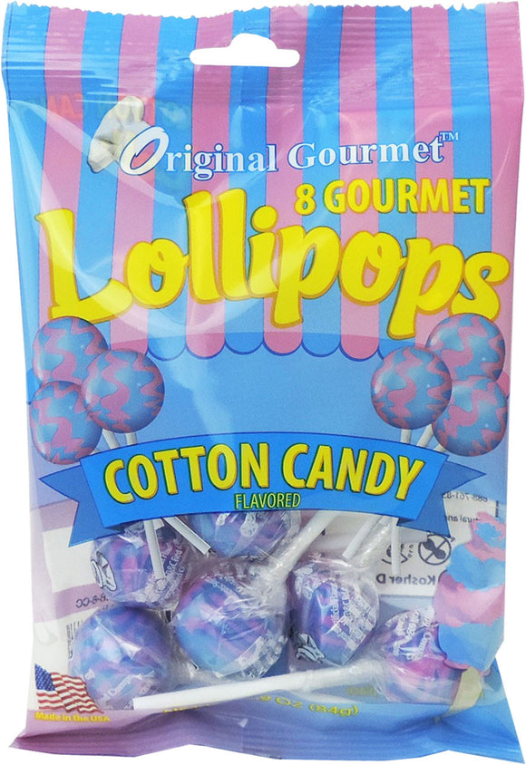8ct. Cotton Candy Mini Lollipop Bag