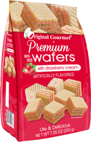 7 OZ (200g) Premium Bite Size Wafers Strawberry Case Pack 12 Wholesale