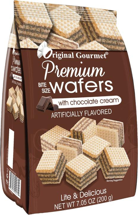 7OZ (200g) Premium Bite Size Wafers Chocolate Case Pack 12 Wholesale