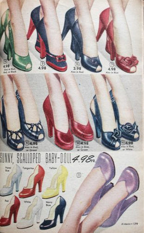Baby Doll Pumps 1950s