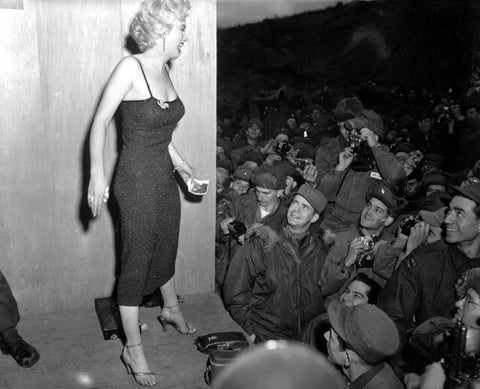 Marilyn Monroe Performs for the Troops