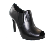 Donna Piu Mani Per Leather High Heel Shoe Black Angled