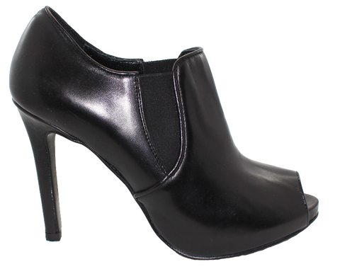 Donna Piu Mani Per Leather High Heel Shoe Black Side