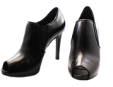 Donna Piu Mani Per Leather High Heel Shoe Black Pair