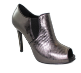 Donna Piu Mani Per Leather High Heel Shoe Pewter Angled