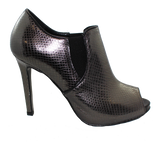 Donna Piu Mani Per Leather High Heel Shoe Pewter Side