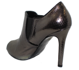 Donna Piu Mani Per Leather High Heel Shoe Pewter Heel