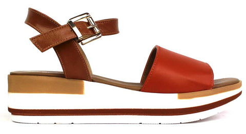 KALENA'S - Open-Toe Sandal with Ankle Strap - KALENA's Shoes
