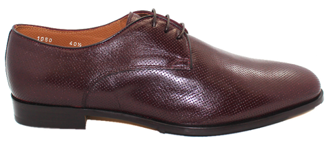 Doucals Leather Lace-Up Shoe Burgundy Side