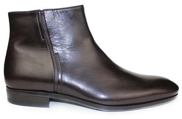 KALENA'S - Leather Ankle Boot with Zipper