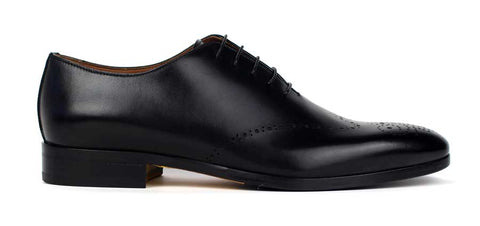 DOUCAL'S  - Black Leather Lace Up Shoes