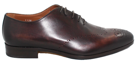 Doucals Leather Lace-Up Wing Tip Brown Side
