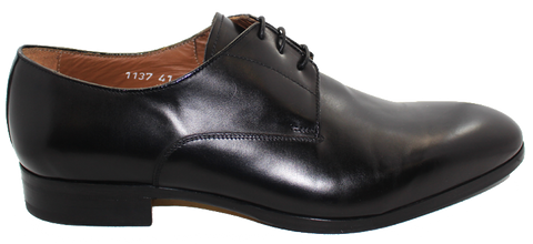 Doucal's Leather Lace-Up Shoe Black Side