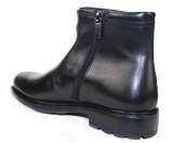 KALENA'S - Leather Ankle Boot with Rubber Sole