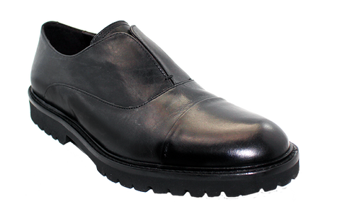 Kaslena's High-Cut Slip-On Shoe Black Angled