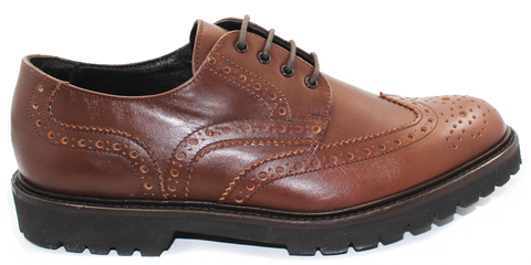 Kalena's Lace-up Brogue Shoe Tan Side