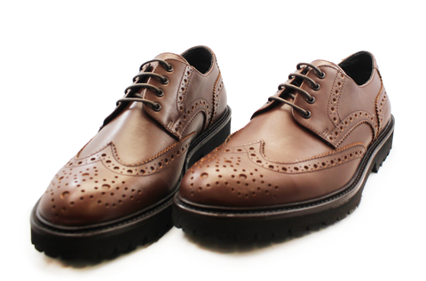 Kalena's Lace-up Brogue Shoe Tan Pair