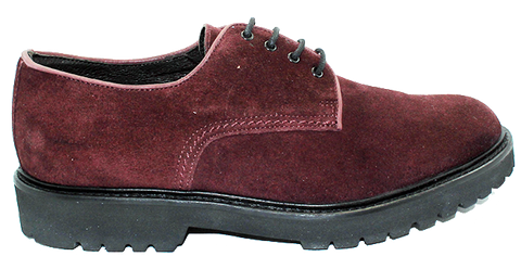 Kalena's Casual Lace-Up Shoe Burgundy Side
