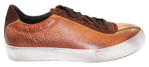 Kalena's Leather Suede Casual Shoe Brown Side
