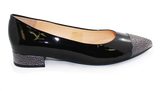 Kalena's Patent Low Heel Pump Black Side