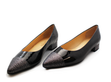 Kalena's Patent Low Heel Pump Black Pair