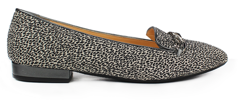 KALENA'S Animal Print Flat with Gold Chain - KALENA's Shoes