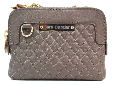 SARA BURGLAR - Small Quilted Crossbody Handbag - KALENA's Shoes